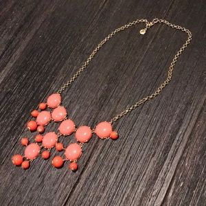 JCrew coral statement necklace